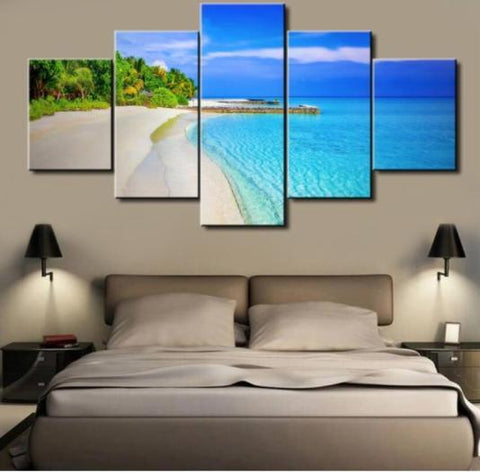 Deer 5 Piece Canvas Limited Edition - Beach 5 Piece Canvas Limited Edition