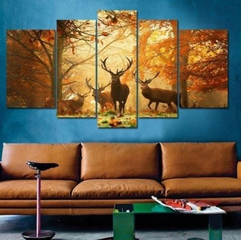 Deer 5 Piece Canvas Limited Edition - Deer 5 Piece Canvas Limited Edition