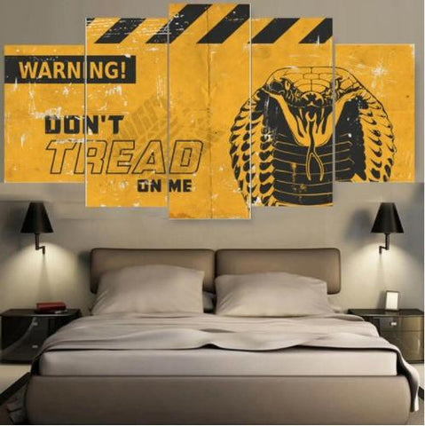 Don't Tread On Me - DON'T TREAD ON ME 5 Piece Canvas Limited Edition