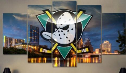 Ducks Fans 5 Piece Canvas Limited Edition - Ducks Fans 5 Piece Canvas Limited Edition