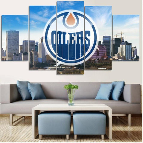 Edmonton Oilers - Edmonton Oilers 5 Piece Canvas Limited Edition
