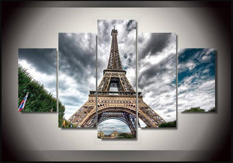 Eiffel Tower 5 Piece Canvas Limited Edition - Eiffel Tower 5 Piece Canvas Limited Edition