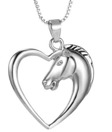 Elegant Horse Heart Necklace - Elegant Horse Heart Necklace
