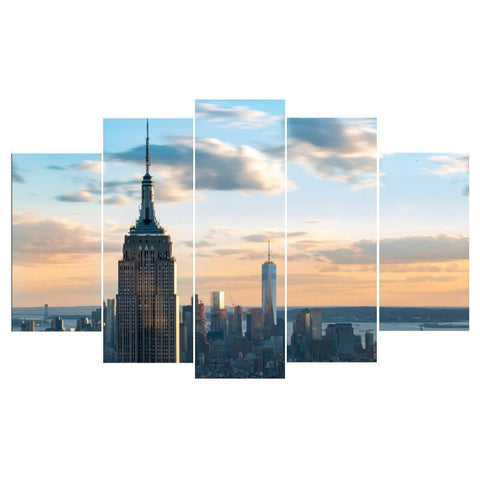 Empre State Building 5 Piece Canvas Limited Edition - Empire State Building 5 Piece Canvas Limited Edition