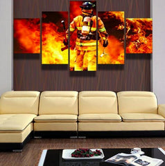 Firefighter 5 Piece Canvas Limited Edition - Firefighter 5 Piece Canvas Limited Edition