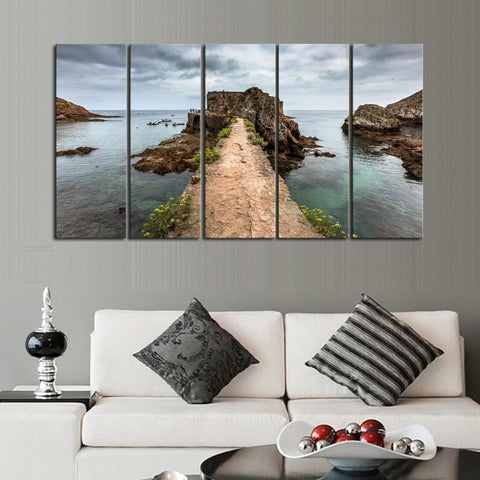 Fort Berlenga Grande Island Portugal 5 Piece Canvas Limited Edition - Fort Berlenga Grande Island Portugal 5 Piece Canvas Limited Edition