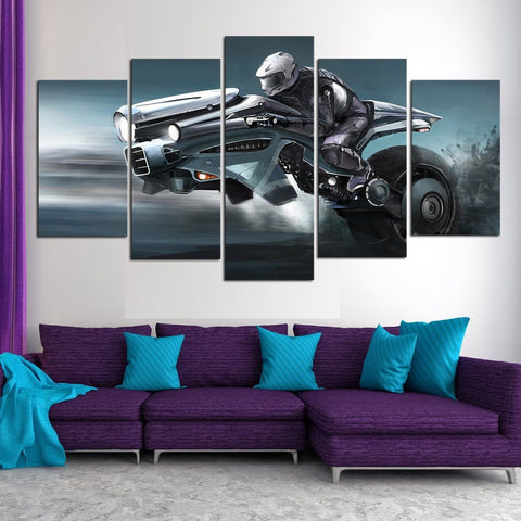 Futuristic Bike 5 Piece Canvas Limited Edition - Futuristic Bike 5 Piece Canvas Limited Edition