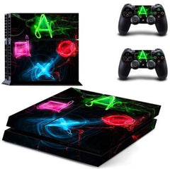 Game Symbol Skin For PS4 + 2 Controllers - Game Symbol Skin For PS4 + 2 Controllers