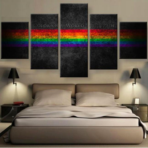 Gay Pride 5 Piece Canvas Limited Edition - Gay Pride 5 Piece Canvas Limited Edition
