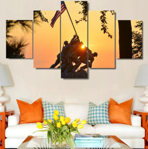 Honoring The Marines 5 Piece Canvas Limited Edition - Honoring The Marines 5 Piece Canvas Limited Edition