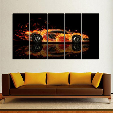 Hot Lamborghini 5 Piece Canvas Limited Edition - Hot Lamborghini 5 Piece Canvas Limited Edition