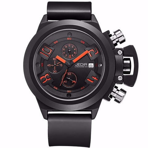 Hot Luxury Military Watches Men Quartz Analog 3D Face Leather Clock