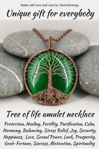 Tree of life amulet necklace