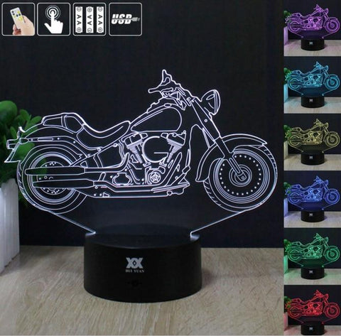 Lamps - Harley Davidson 3D LED Table Lamp Night Light