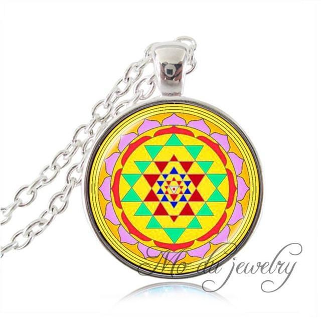 Necklace - Buddhist Sacred Geometry Pendant Necklace
