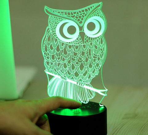 Owl 3D LED Lamp - Owl 3D LED Lamp