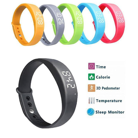Pedometer Thermometer Sleep Monitor Calorie Burning Tracker Smart Watch