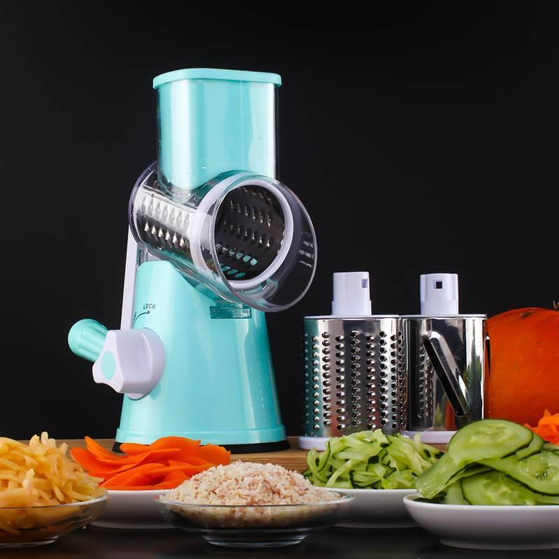 Shredders & Slicers - Multifunctional Vegetable Spiral Slicer Chopper