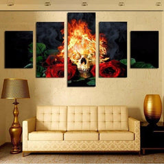 Skeleton - Skull 5 Piece Canvas Limited Edition
