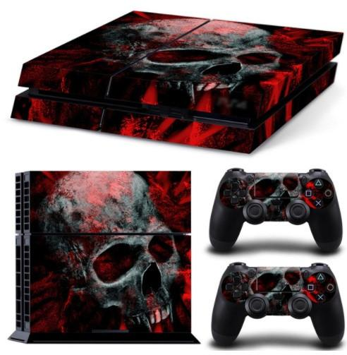 Skull And Blood Skin For PS4 + 2 Controllers - Skull And Blood Skin For PS4 + 2 Controllers