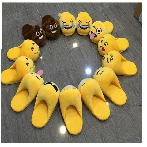 Slippers - Cute Emoji Warm House Slipper