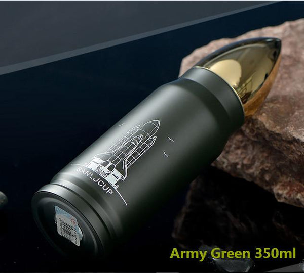 Bullet Shape Stainless Steel Thermos Water Bottle