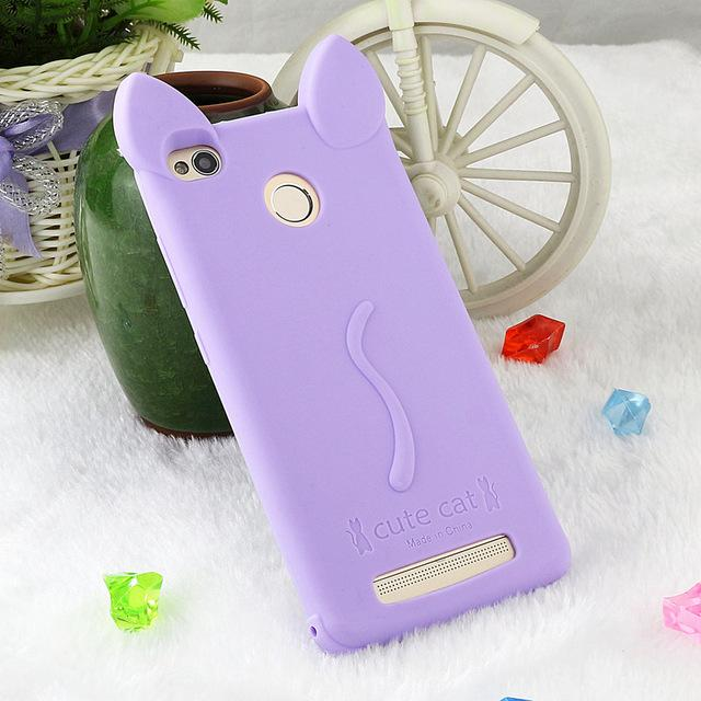 Cat Phone Case Rubber Back Cover