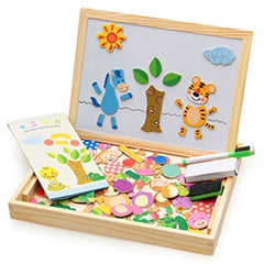 100+ PCS Wooden Magnetic Puzzle Educational Toy