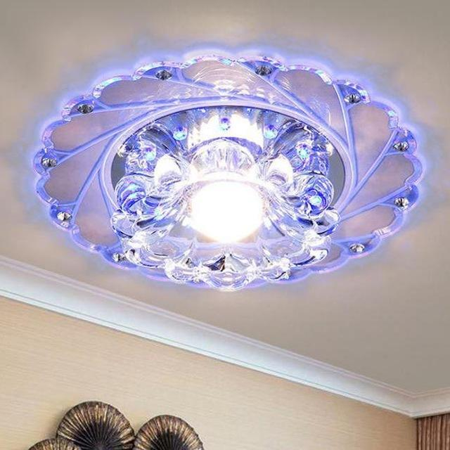 Ceiling Blue flower Light Superior Chandelier