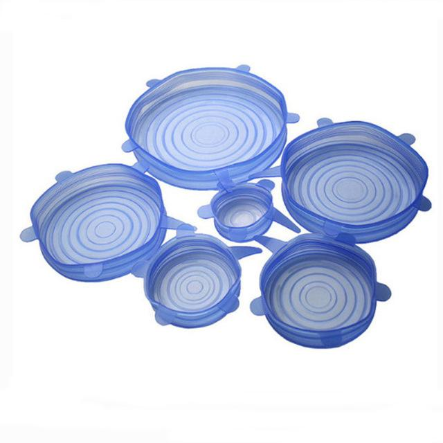6pcs Silicone Stretchable Lids