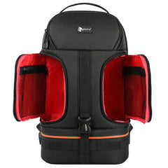 DSLR Waterproof Shockproof Camera Backpack w/ Tripod Case and Reflector