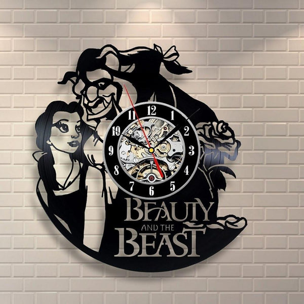 Wall Clock - Beauty And The Beast Vinyl Record Design Wall Clock