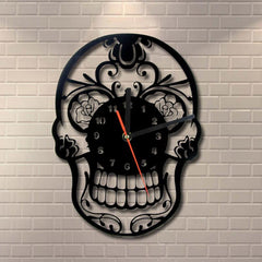 Wallclock - Day Of The Dead Skull Wall Clock