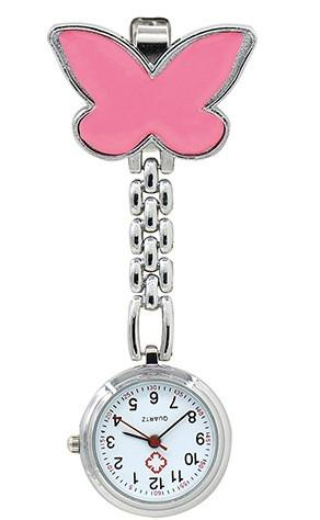 Watch - Butterfly Nurse Clip On Watch