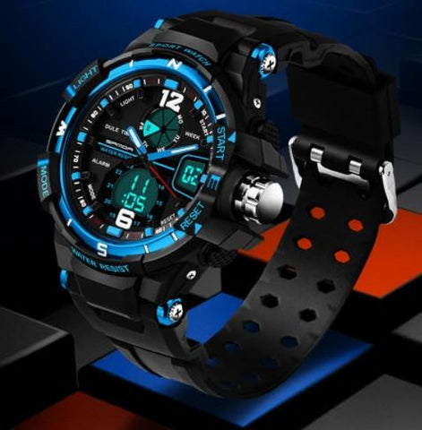 Watches - Fashion Watch Men G Style Waterproof LED Sports Military Watches Shock Men's Analog Quartz Digital