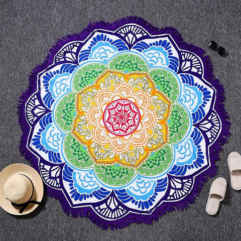 Yoga Mat - Yoga Lotus Beach Blanket