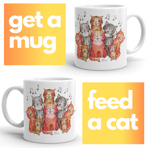 Get a Mug, Feed a Cat | The Cat's Choir coffee Mug
