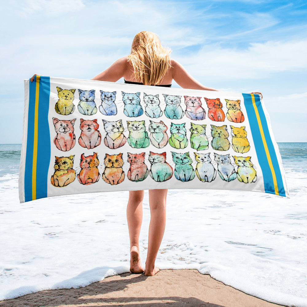 The summer Collection - Beach towels with cats!