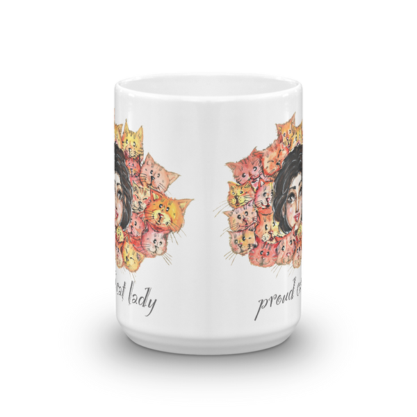 Proud cat Lady Mug - Gift for Cat Lovers - CatCottageDesign