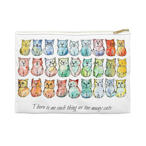 No Such Thing as Too Many Cats - Accessory pouch - Gift for Cat Lovers - CatCottageDesign