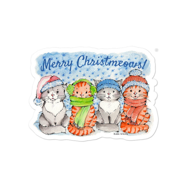 The Christmeows Kitties | Bubble-free stickers