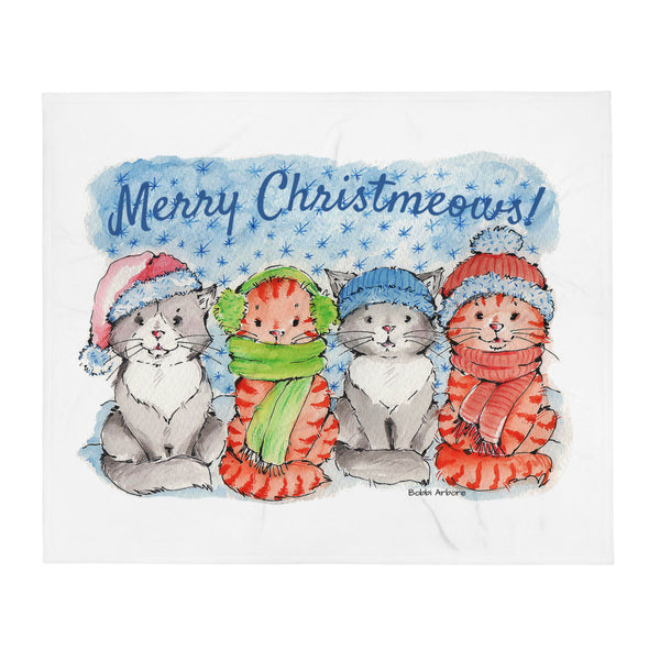 the Christmeows Kitties | Throw Blanket