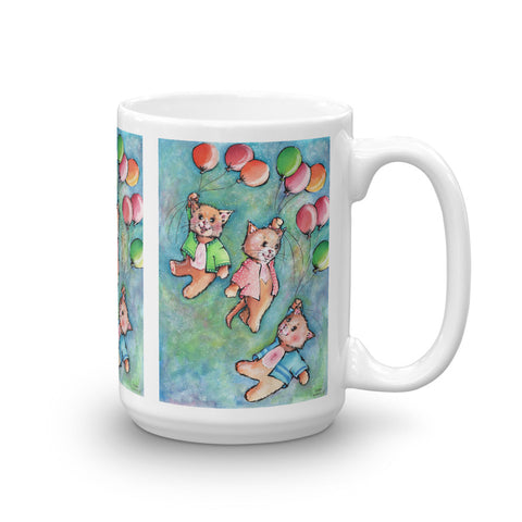 Flying Cats Mug - Gift for Cat Lovers - CatCottageDesign