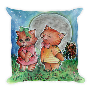 Funny Valentine Basic Pillow - Gift for Cat Lovers - CatCottageDesign