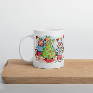 Making the Christmeows tree | Mug