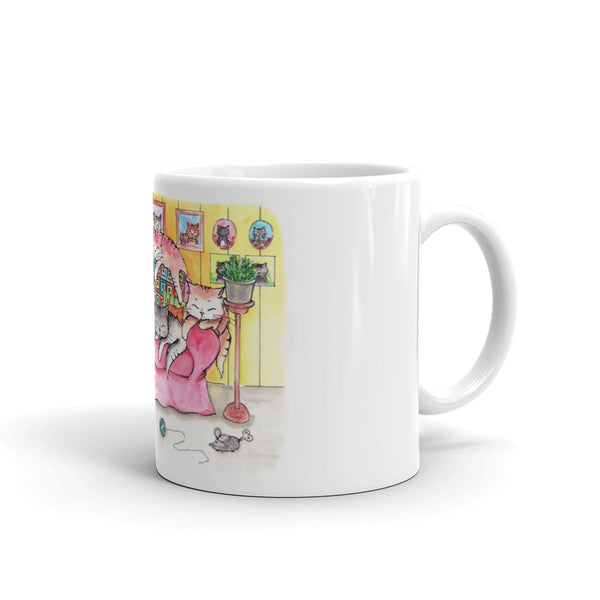 The Home of a Cat Lover Coffee Mug - Gift for Cat Lovers - CatCottageDesign