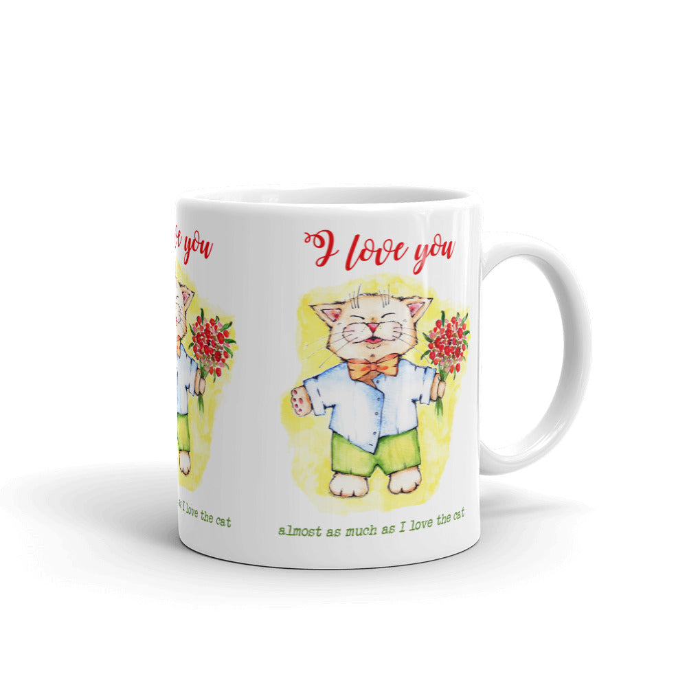 I Love You Mug - Gift for Cat Lovers - CatCottageDesign