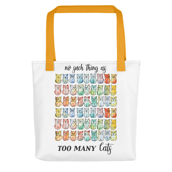 No Such Thing as too Many Cats - Tote Bag - Gift for Cat Lovers - CatCottageDesign