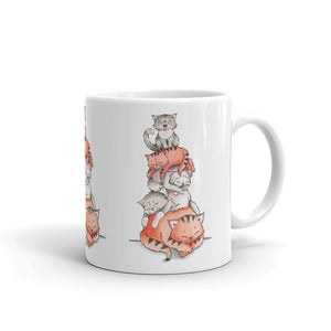A Pile of Sleeping Cats | Coffee Mug | Cat Cottage Design