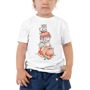 A Pile of Sleeping Cats | Toddler's T-shirt | Cat Cottage Design